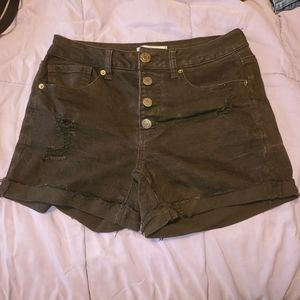 🌠3/$12 or FREE🌠 Distressed high waisted shorts